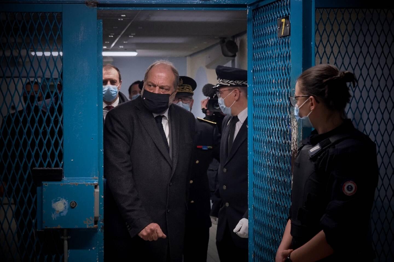Eric Dupond-Moretti à la prison de Saint-Maur le 1er février 2021