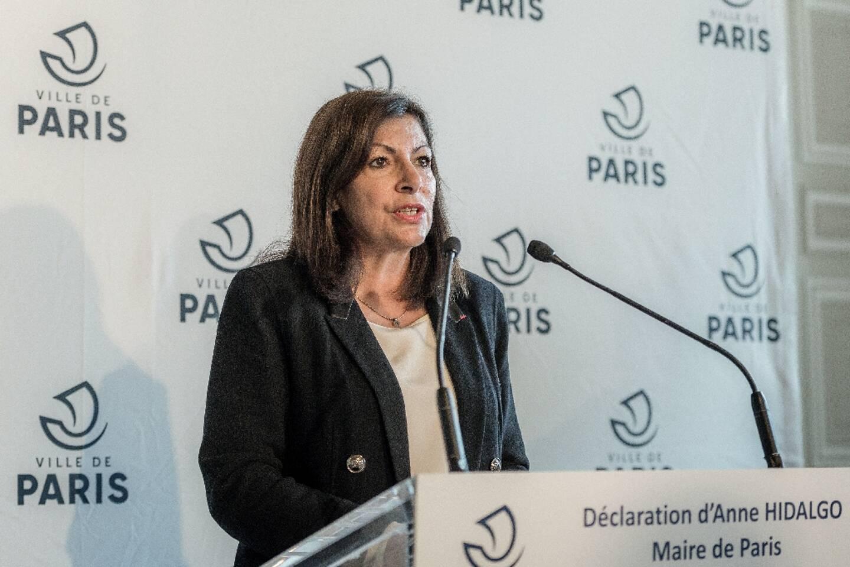 La maire de Paris Anne Hidalgo lors d'une conférence de presse le 29 octobre 2020 à Paris