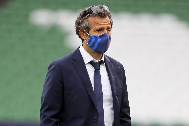 Fabien Galthié le 14 février 2021 à Dublin avant le match du Tournoi des six nations Irlande-France