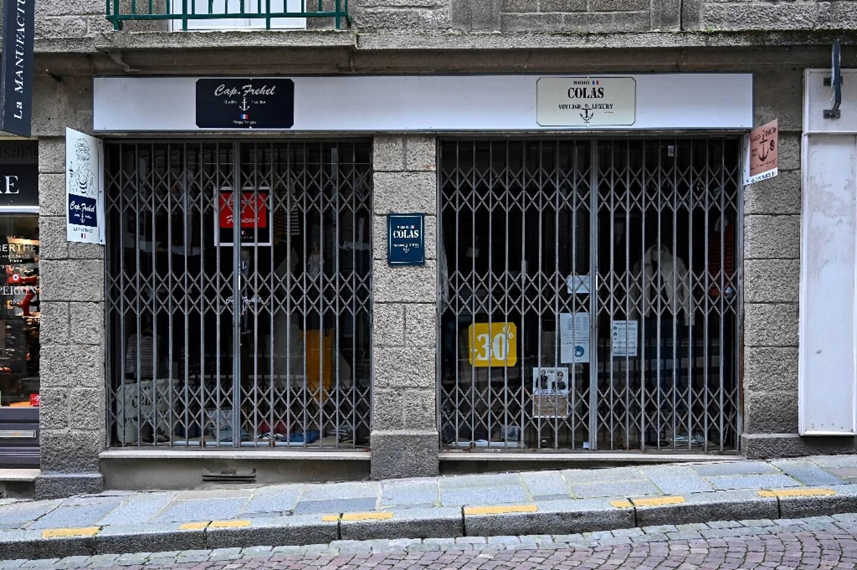 Boutique d'habillement à Saint-Malo fermée lors du confinement de novembre 2020
