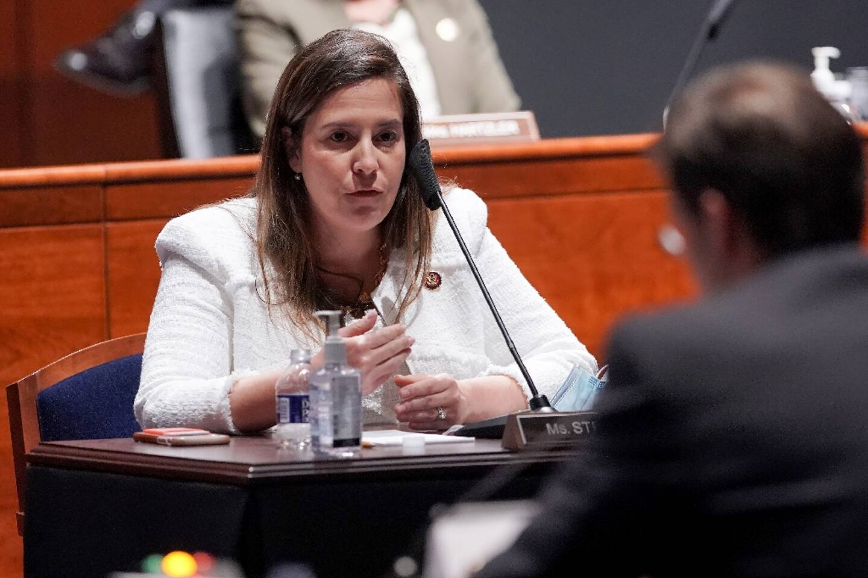Elise Stefanik, élue républicaine du Congrès américain, lors d'une audition parlementaire le 9 juillet 2020