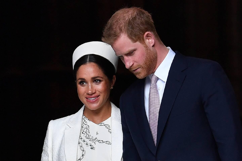 La duchesse et le duc de Sussex, en mars 2019, à Londres