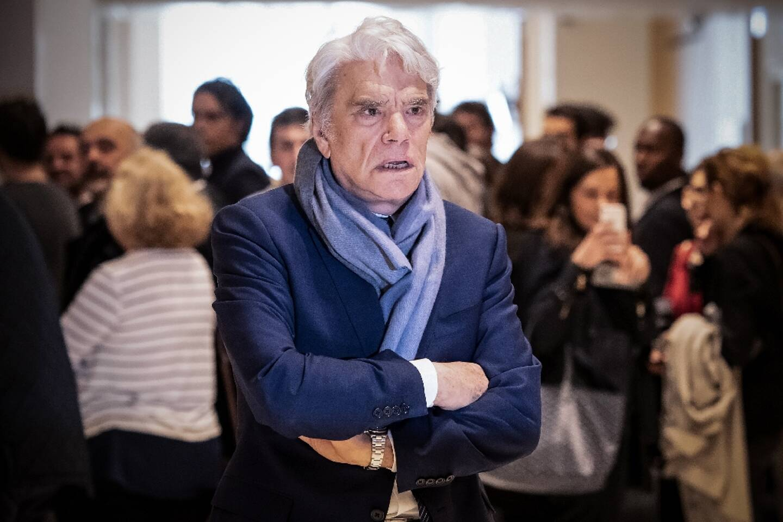Bernard Tapie en avril 2019 au Palais de justice de Paris