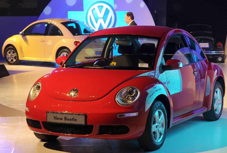 Le nouvelle Coccinelle de Volkswagen, à Bombay le 4 décembre 2009