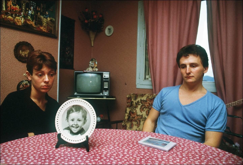 Christine et Jean-Marie Villemin, le 23 novembre 1984, dans leur maison à Lépanges-sur-Vologne (Vosges)