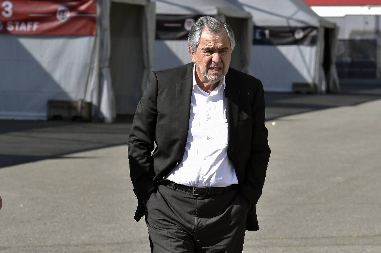 René Bouscatel, alors président du Stade toulousain, à son arrivée pour un point presse à Toulouse, le 19 avril 2017