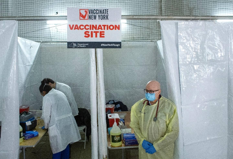 Un centre de vaccination dans le quartier de Harlem, le 15 janvier 2021 à New York