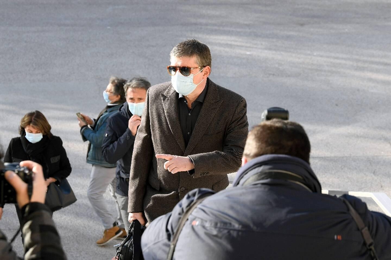Alexandre Guérini arrive au tribunal de Marseille le 15 mars 2021