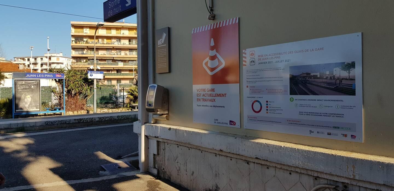 La gare de Juan-les-Pins aura bientôt un nouveau visage, majoritairement pour y faciliter l'accès aux personnes à mobilité réduite.