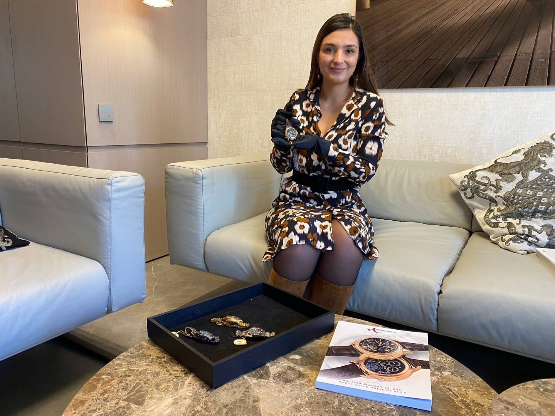 Maud Gibourdel spécialiste junior de la marque, dirige l'antenne monégasque d'Antiquorum également installé Genève, Paris, Milan, Munich et Hong Kong.