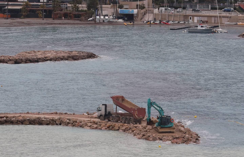 Le chantier concerne le deuxième épi de la baie, le plus ancien des trois.