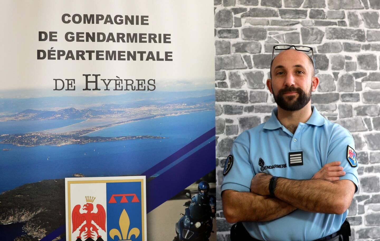 Etre présent sur le terrain, aux côtés des militaires, est important pour le commandant de la compagnie de gendarmerie de Hyères.