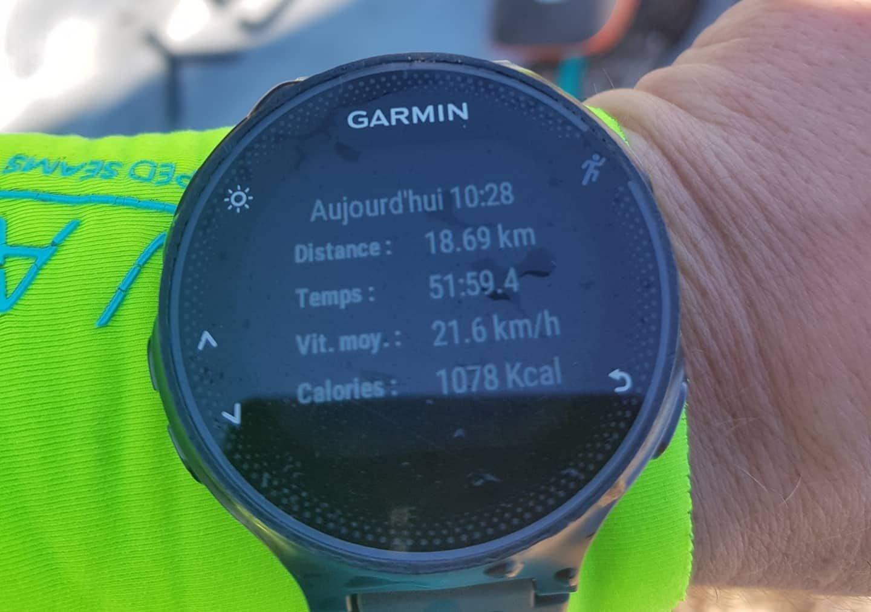 Olivia Piana a parcouru 18,69 km en 51 minutes et 59 secondes à la vitesse moyenne de 21,6 km, avec une pointe à 35,5 km/h!