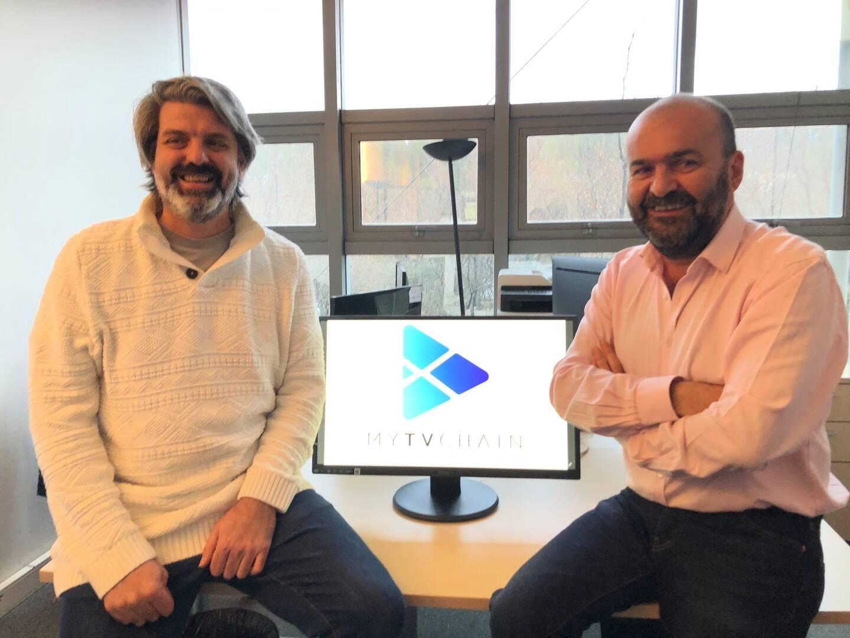 Junior Bouis, cofondateur et responsable du développement commercial, et Xavier Gesnouin, président de MyTVChain, prévoient une forte croissance en 2021.