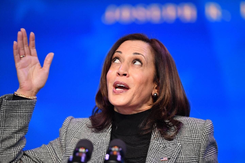 La vice-présidente élue des Etats-Unis, Kamala Harris, prononçant un discours le 16 janvier 2021, à Wilmington dans le Delaware
