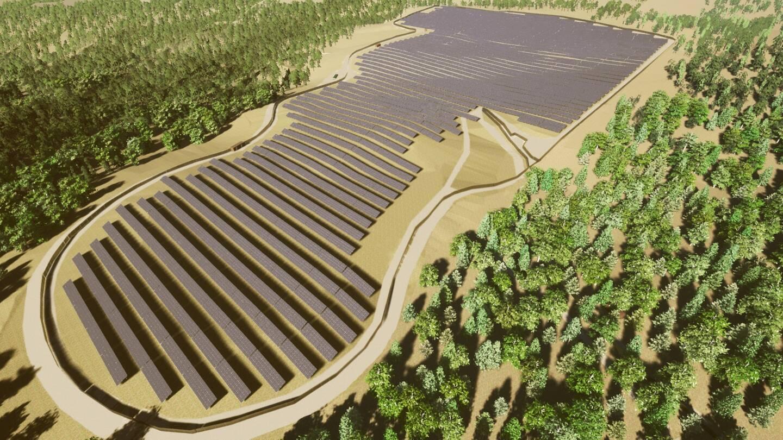 La centrale va cotoyer un autre parc photovoltaïque, près du château Margüi, sur un site actuellement composé de boisements artificiels. Le financement participatif est ouvert jusqu'au 15 juin.