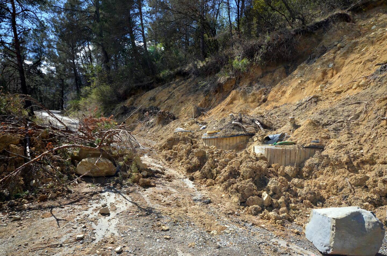 L'accès à la route du Scordiglaus est toujours en attente de travaux après le passage de la tempête Alex.