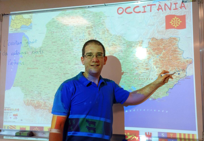 Laurenç Revest, professeur de mentonasque dans la circonscription de Menton