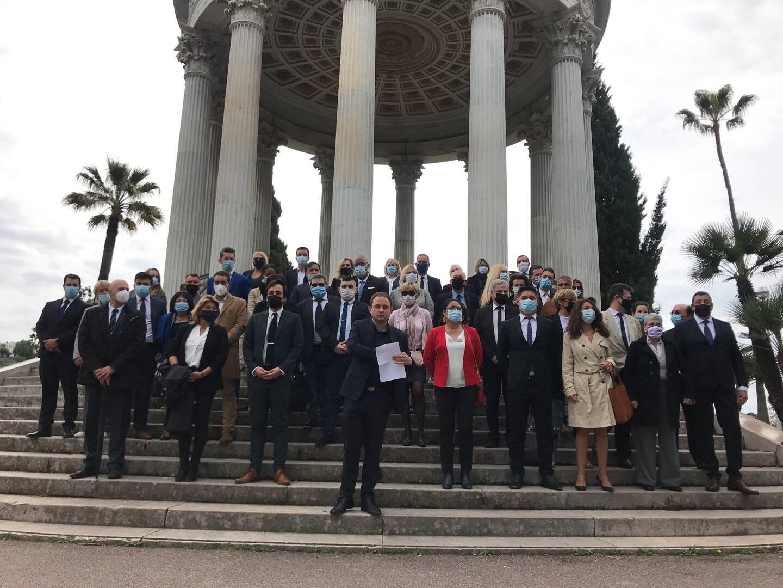 Lionel Tivoli a présenté 26 des 27 duos qui vont faire campagne pour les départementales dans les Alpes-Maritimes.