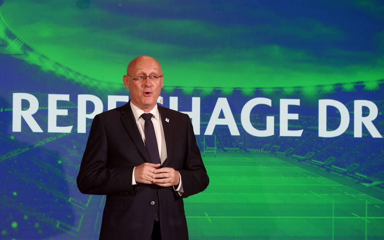 Bernard Laporte, président de la fédération française de rugby et vice-président de World Rugby.