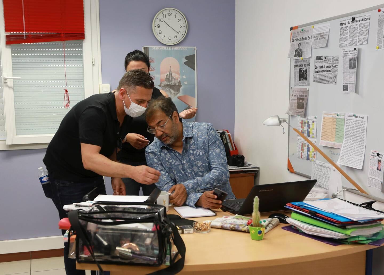 Each film is supervised by Abdellatif Wadi Dada, the director (left).