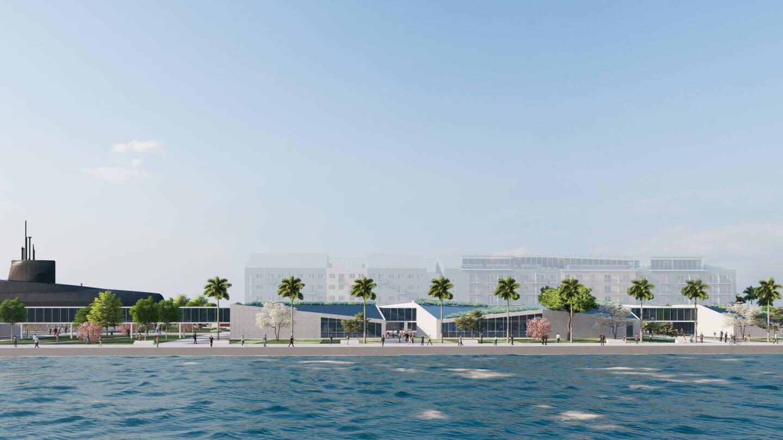Dans la « Cité de la mer en Méditerranée » telle qu'imaginée par Philippe Le Sausse et son groupe de travail, un sous-marin de la Marine nationale serait ouvert aux visiteurs.(Image DR)