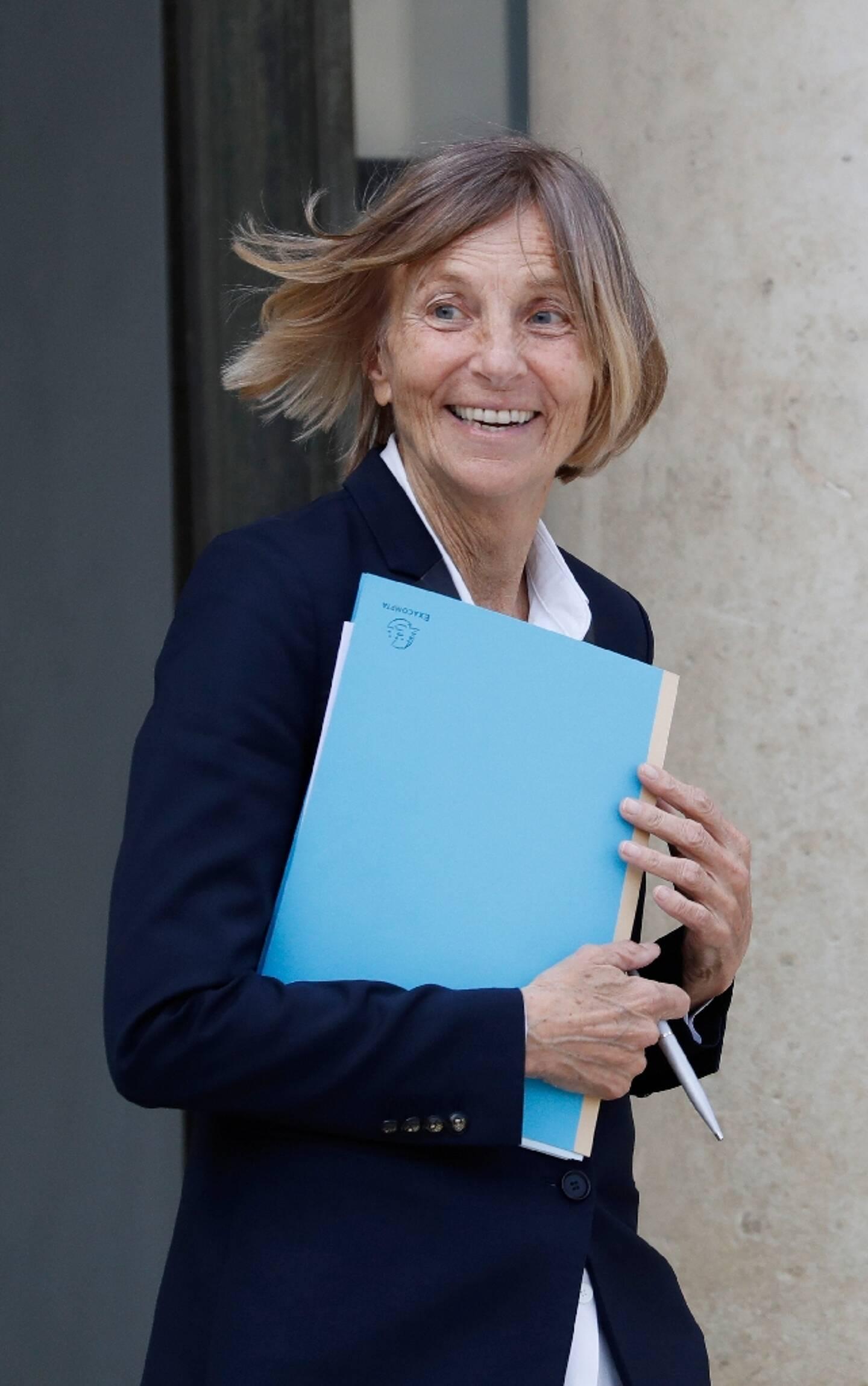 Marielle de Sarnez à la sortie d'un conseil des ministres à Elysée, le 21 juin 2017 à Paris.