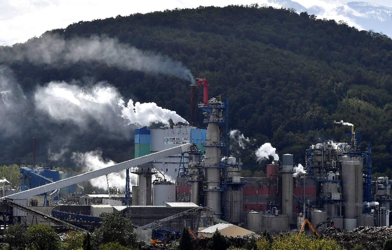 L'usine de pâte à papier de la société Fibre excellence, classée Seveso 2, à Saint-Gaudens (Haute-Garonne) le 28 septembre 2020
