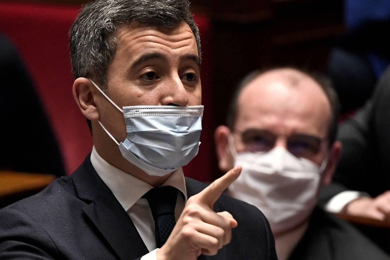 Le ministre de l'Intérieur Gérald Darmanin à l'Assemblée nationale à Paris le 19 janvier 2021