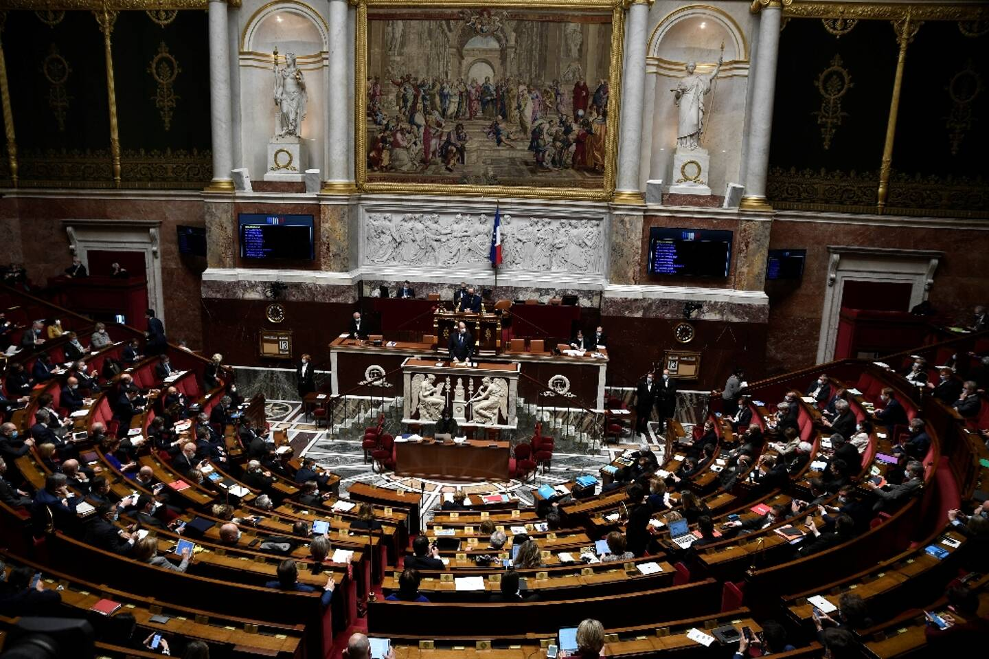 L'Assemblée nationale à Paris le 13 avril 2021