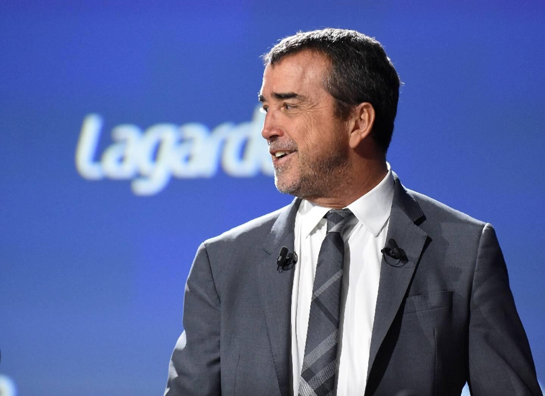 Arnaud Lagardère lors d'une assemblée générale du groupe, le 10 mai 2019 à Paris