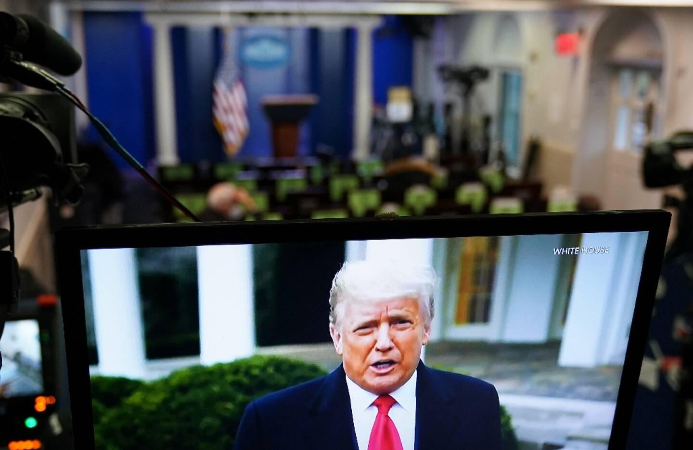 Le président Donald Trump s'adresse à ses partisans dans une vidéo supprimée par Twitter, Facebook et Youtube, le 6 janvier 2021