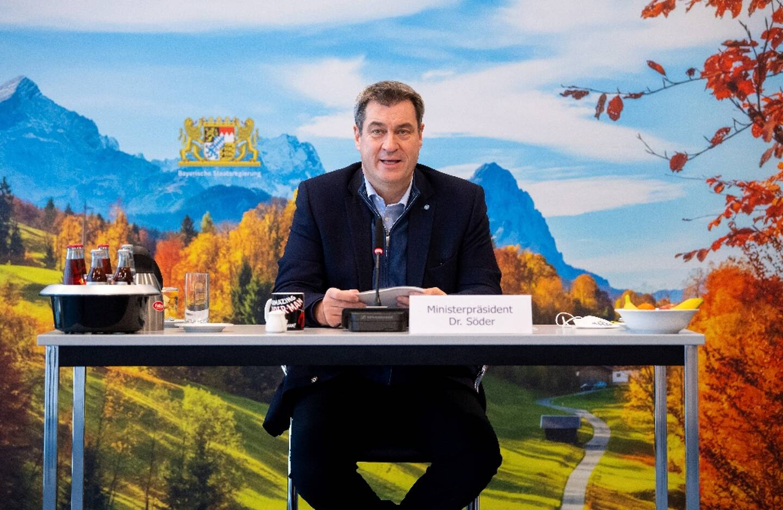 Markus Söder, ministre-président de la Bavière et président de la CSU, à Munich, le 26 novembre 2020