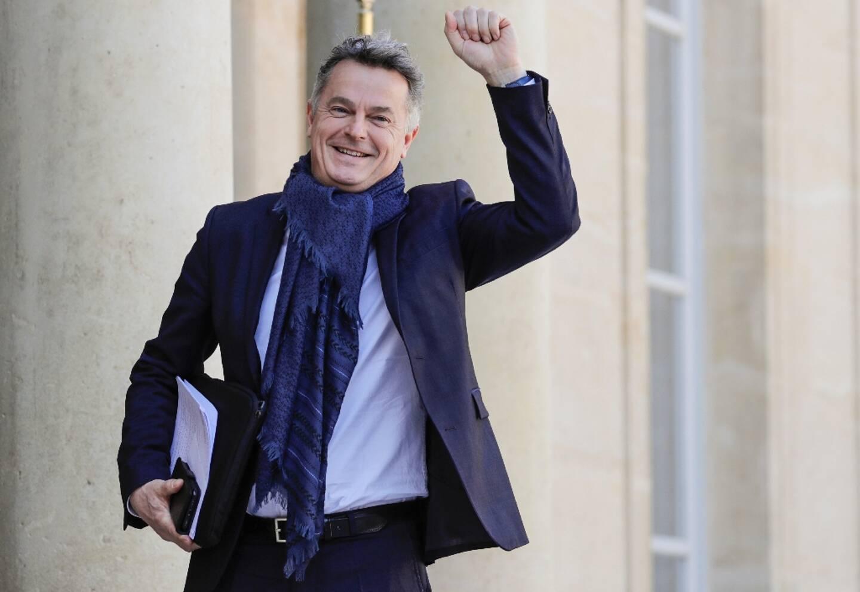 Fabien Roussel à la sortie de l'Elysée le 29  mars 2019