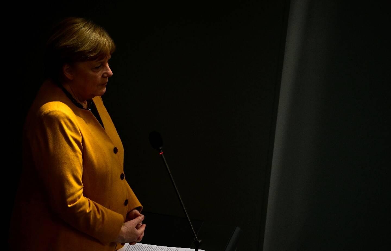 La chancelière allemande Angela Merkel à Berlin, le 24 mars 2021