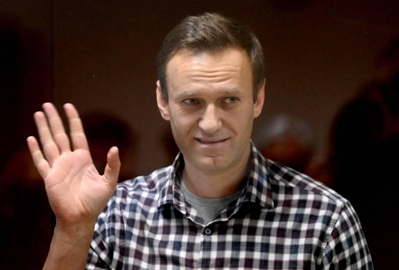 L'opposant russe Alexeï Navalny lors d'une audience judiciaire, le 20 février 2021 à Moscou