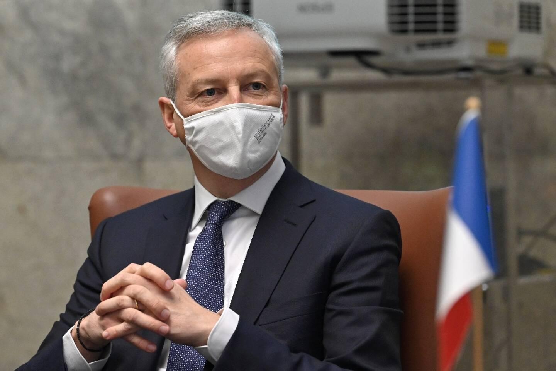 Le ministre de l'Economie Bruno Le Maire, lors d'un déplacement à Rome le 19 mars 2021