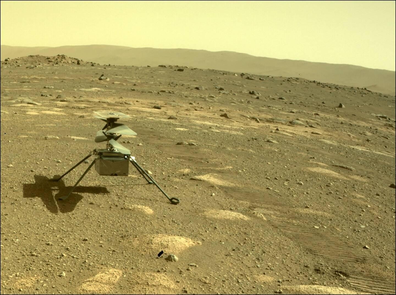 L'hélicoptère de la Nasa Ingenuity sur Mars, le 6 avril 2021