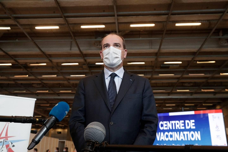 Le Premier ministre Jean Castex le 15 mai 2021 au centre de vaccination de la Porte de Versailles à Paris