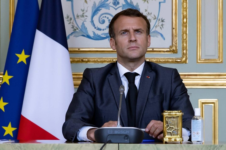 Le président Emmanuel Macron à l'Elysée, le 22 avril 2021 à Paris