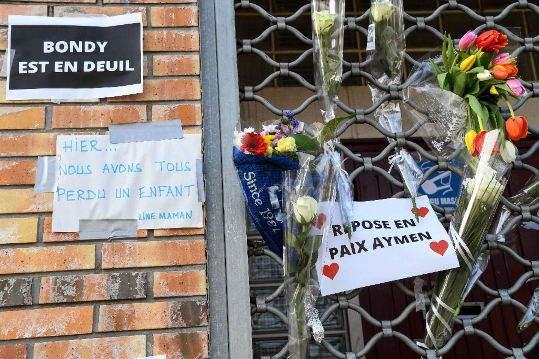 Messages en mémoire de l'adolescent de 15 ans tué à Bondy, le 28 février 2021, deux jours après le drame