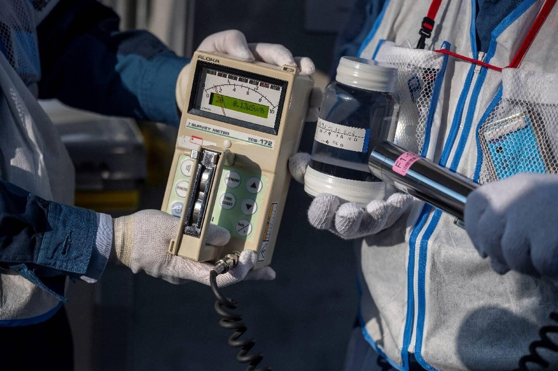 Mesure des radiations sur la centrale de Fukushima le 21 février 2021