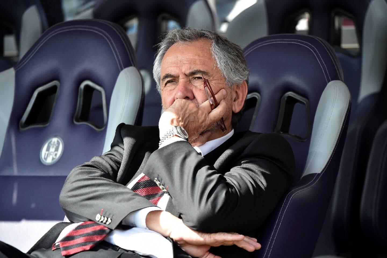 Le président René Bouscatel avant le choc de Top 14 entre le Stade Toulousain et le Racing 92, le 16 avril 2017 au Stadium Municipal