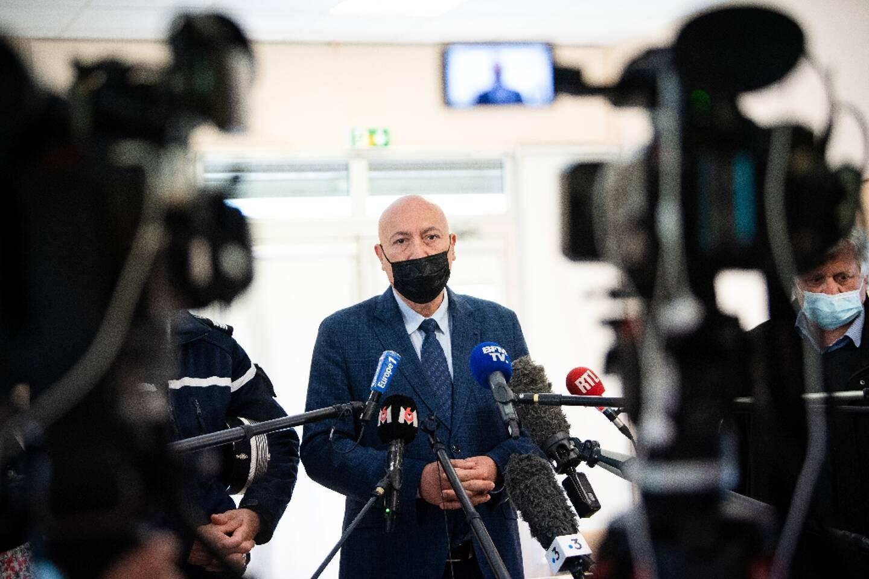 Le procureur de Nîmes Eric Maurel parle à la presse le 12 mai 2021