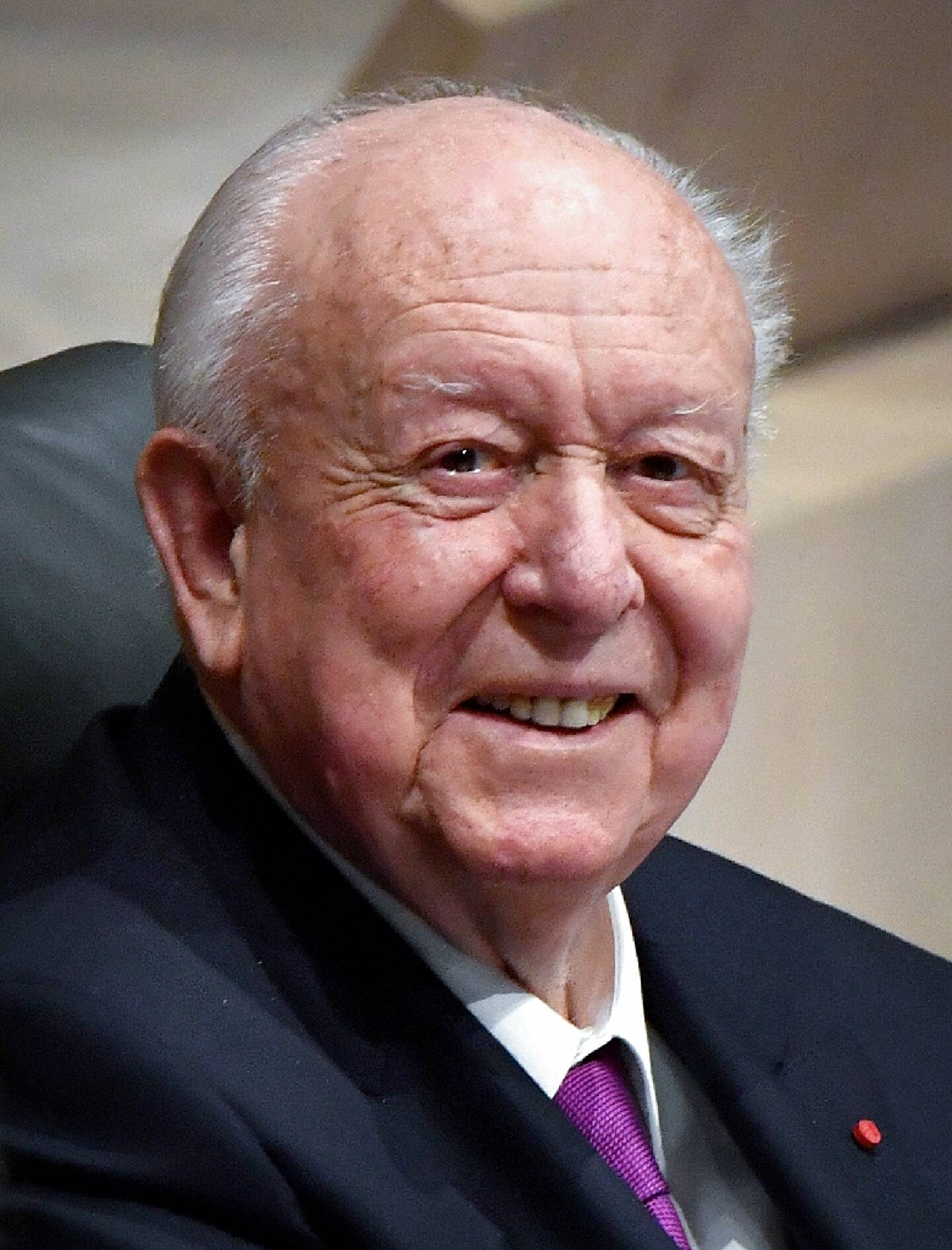 Jean-Claude Gaudin lors de son dernier conseil municipal, à Marseille le 27 janvier 2020