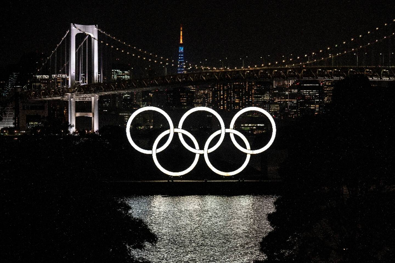 Les anneaux olympiques à Tokyo le 10 mai 2021