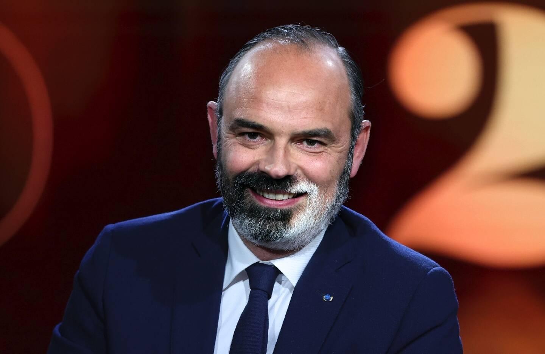 Le maire du Havre et ancien Premier ministre Edouard Philippe sur le plateau de la chaîne France 2, le 4 avril 2021 à Paris