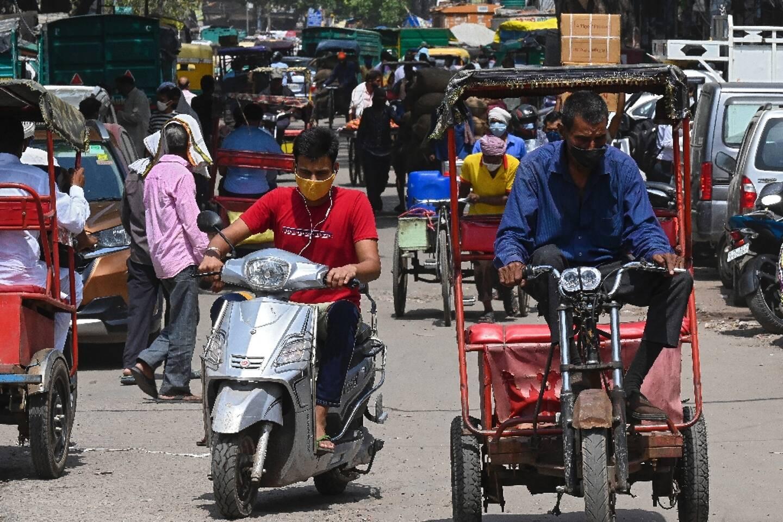 Dans une rue de New Delhi, le 5 juin 2021 en Inde