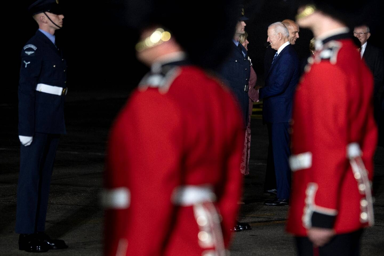 Le président américain Joe Biden à son arrivée à Saint Mawgan (Grande Bretagne) le 9 juin 2021