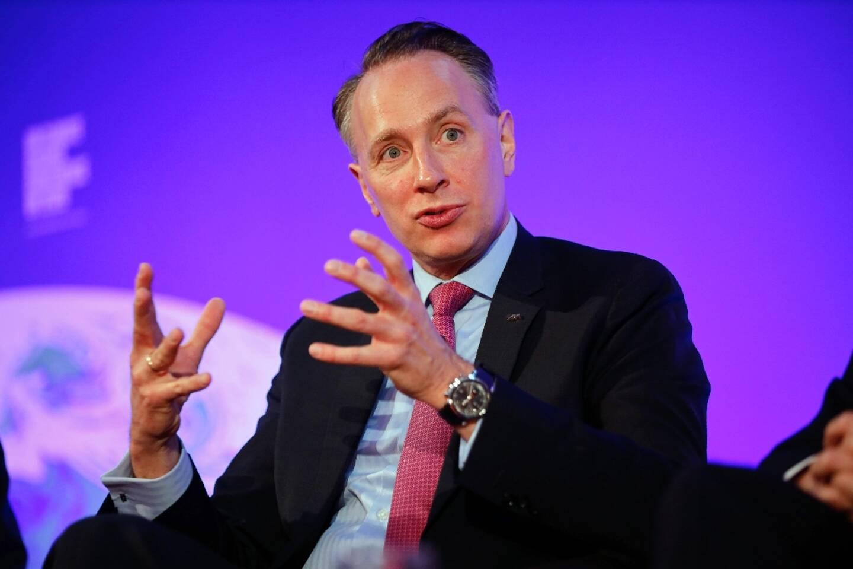 Thomas Buberl, le directeur général du groupe Axa, à Londres, le 27 février 2020
